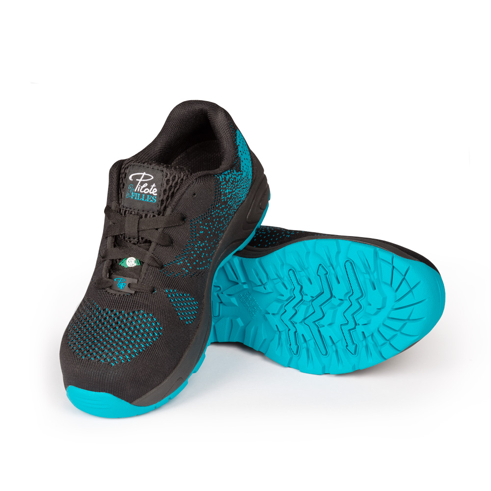Safety running shoe for women│Turquoise│P&F Workwear│PF636