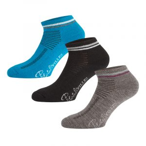 Merino ankle socks for women | Blue Combo | P&F Workwear | PF527
