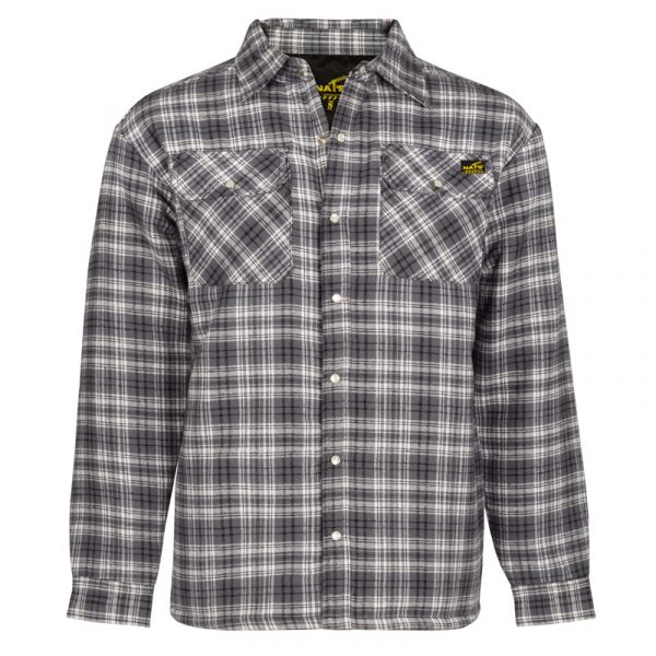 Quilted flannel work shirt for men│Grey│NAT'S│WK048