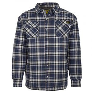 Quilted flannel work shirt for men│Navy │NAT'S│WK048