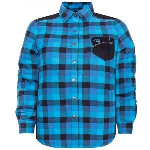 Padded plaid work shirt for women | Plus size | Blue | P&F Workwear | PF410