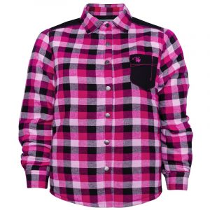 Padded plaid work shirt for women | Plus size | Raspberry | P&F Workwear | PF410