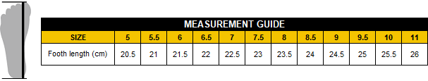 Measurement guide - P&F Workwear Safety footwear