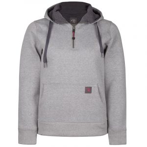 Hoodie for women | Light Grey | Plus size | P&F Workwear | PF462