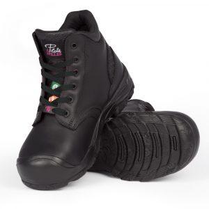 Waterproof work boots for women | Black | P&F Workwear | PF649