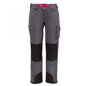 Pantalon de travail multi-poches pour femme | Gris Charbon | Pilote et Filles | PF875