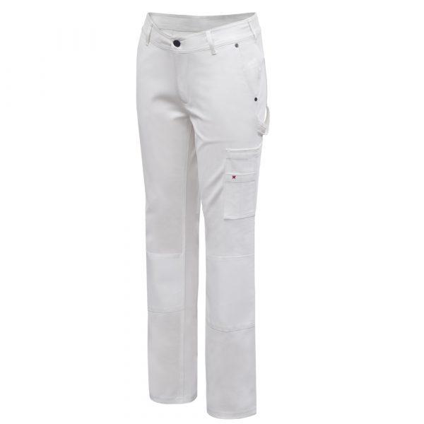 Pantalon de peintre pour femme | Blanc | Pilote et Filles | PF890