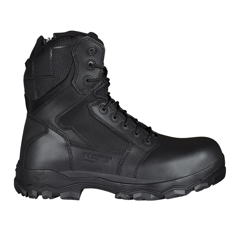 Safety boots with side zipper for men