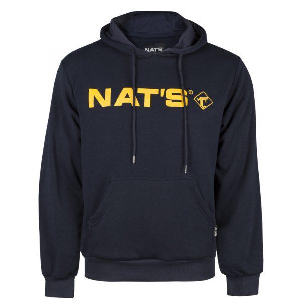Hoody sweatshirt with NAT'S logo for men | Navy | NAT'S | WK076L