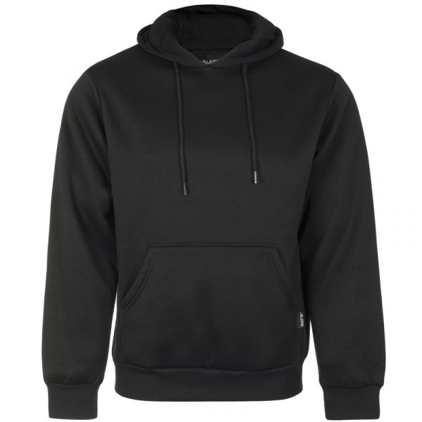Hoody sweatshirt for men | Black | NAT'S | WK076