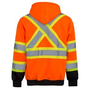 High visibility hoodie for men | Orange | NAT'S | HV078