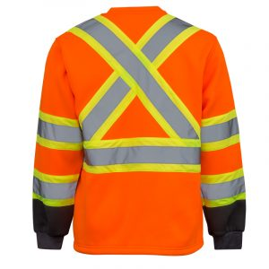 High visibility jersey for men | Orange | NAT'S | HV080