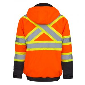 Men's high visibility waterproof parka | Orange | NAT'S | HV850