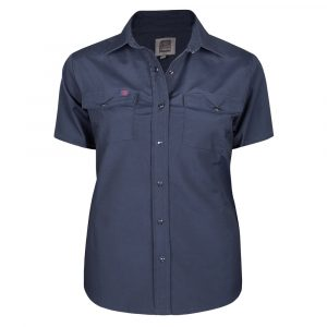 Work shirt for women | Plus size | Navy | P&F Workwear | PF435