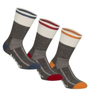Merino socks for men | Pack of 3 pairs | Charocal Combo | NAT'S | WK929