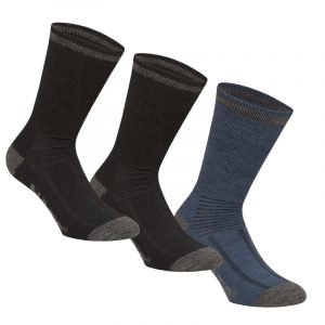Merino socks for men | Pack of 3 pairs | Black Combo | NAT'S | WK929