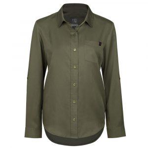 Flannel work shirt for women | Khaki | P&F Workwear | PF475