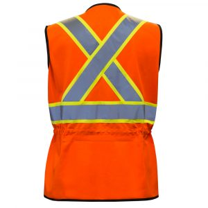 High visibility safety vest for women | Orange | PF Workwear | PF760