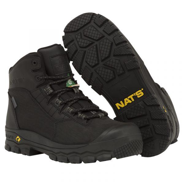 Waterproof work boots for men | Black | NAT'S | S626